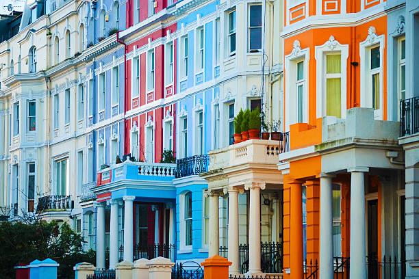 portobello road, notting hill, london - fönsterrad bildbanksfoton och bilder