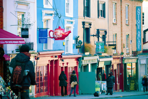 Portobello Road, Notting Hill, London, UK.