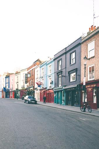Notting Hill London: Portobello Road Notting Hill London Stock Photo