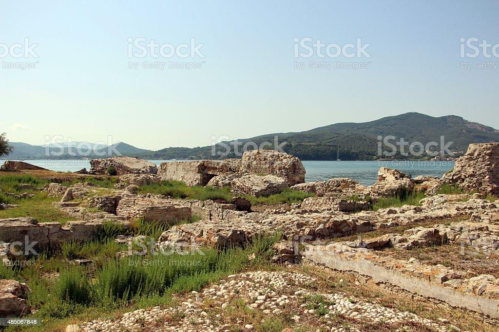 portoferraio - ruins in the old town stock photo