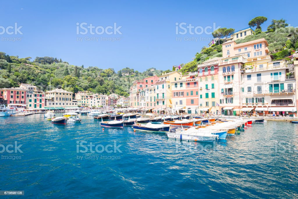 Portofino, Italy - Summer 2016 - view from the sea royalty-free stock photo