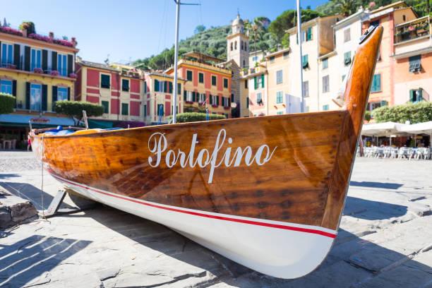 Portofino landmark detail stock photo