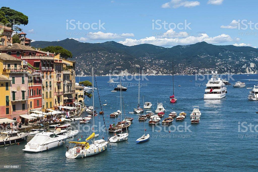 Portofino village, Ligurian Coast, Italy stock photo