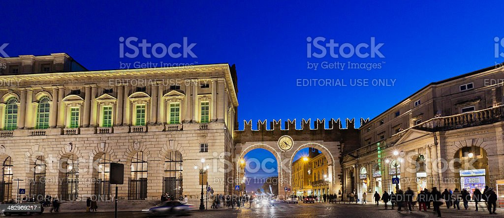 Portoni della Bra, Verona royalty-free stock photo