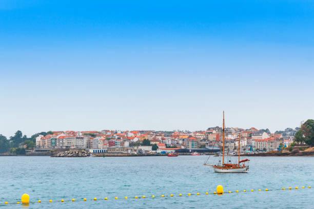 Portonovo fishing and tourist village stock photo