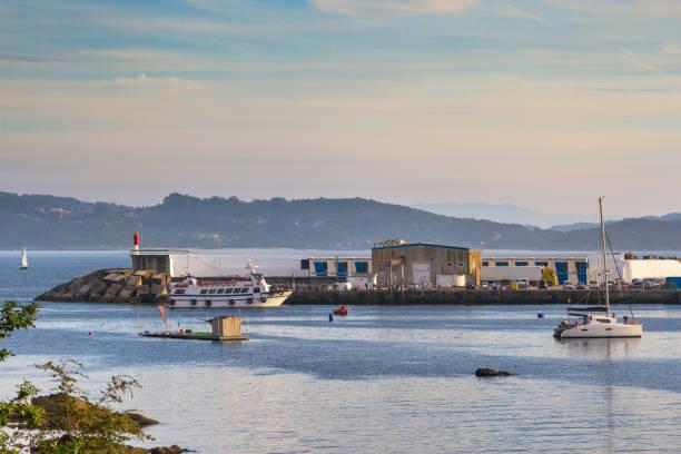 Portonovo harbor stock photo