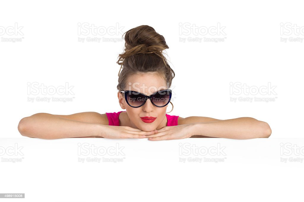 Portrair Of A Girl In Sunglasses stock photo