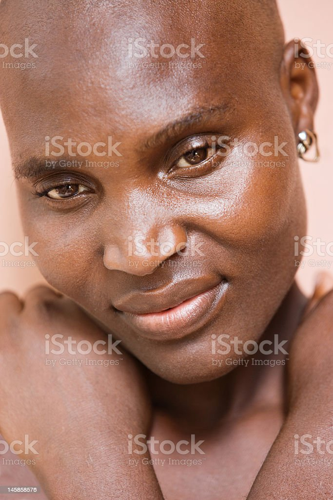 Portrait  African woman stock photo