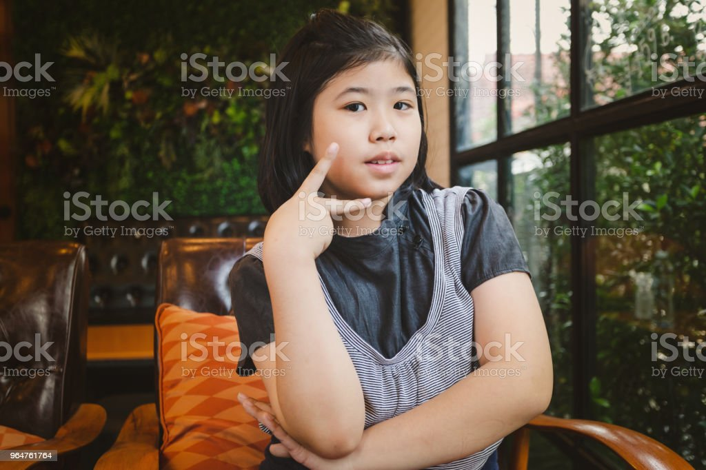 Portrait asian little young girl royalty-free stock photo