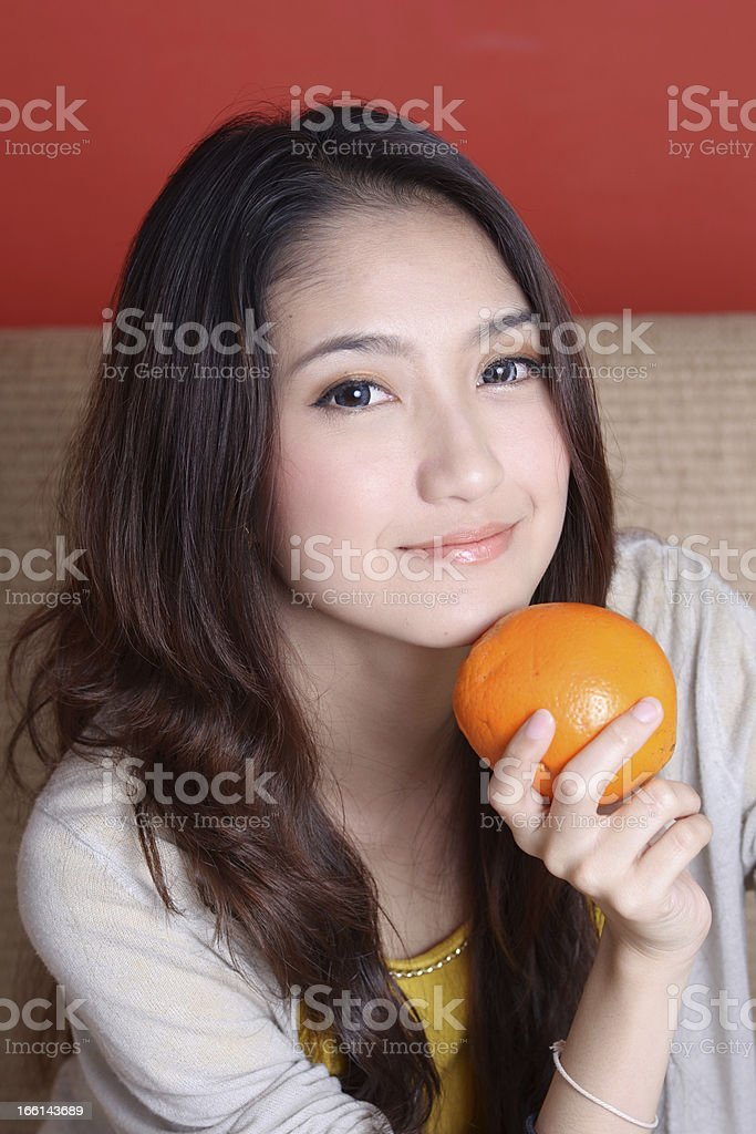 Portrait beautiful Asian Girl royalty-free stock photo
