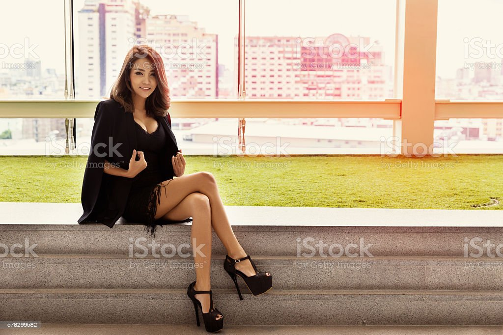 Portrait beautiful business woman stock photo