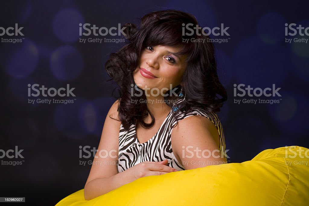 Portrait beautiful woman of 35 years royalty-free stock photo