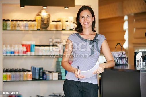 istock Portrait Beauty Product Shop Manager 160764091