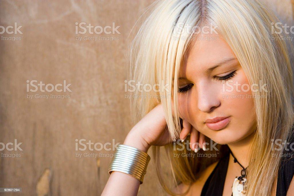 Portrait / Blonde Woman royalty-free stock photo