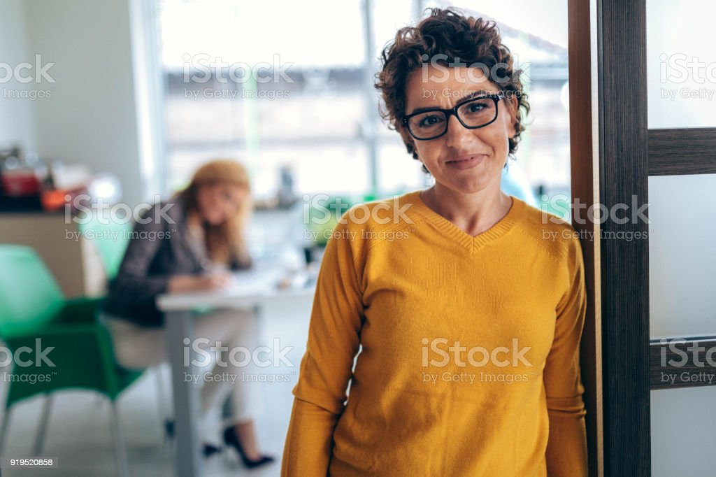 Portrait business women  in the office stock photo