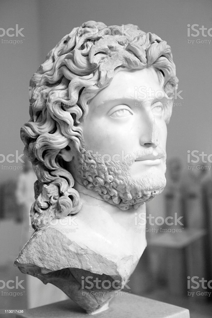 Portrait bust of a Greek nobleman royalty-free stock photo