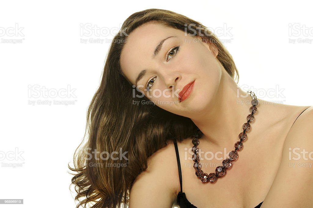 Portrait close up the attractive girl royalty-free stock photo