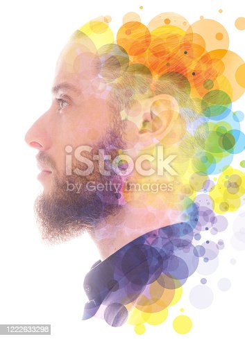 498089686 istock photo A portrait combined with a digital illustration 1222633298