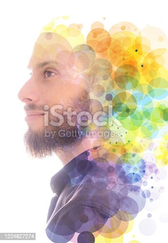 498089686 istock photo A portrait combined with a digital illustration. 1224627274