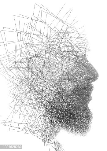 498089686 istock photo A portrait combined with a digital illustration 1224628239
