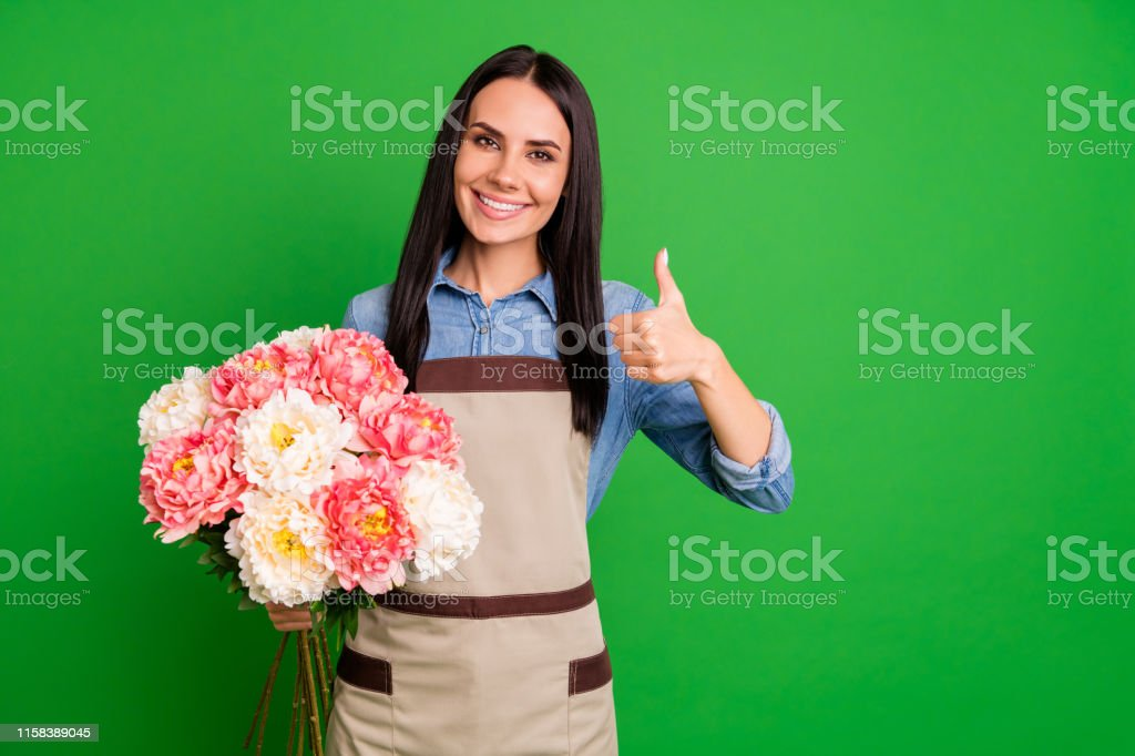 nice assistant with very girl