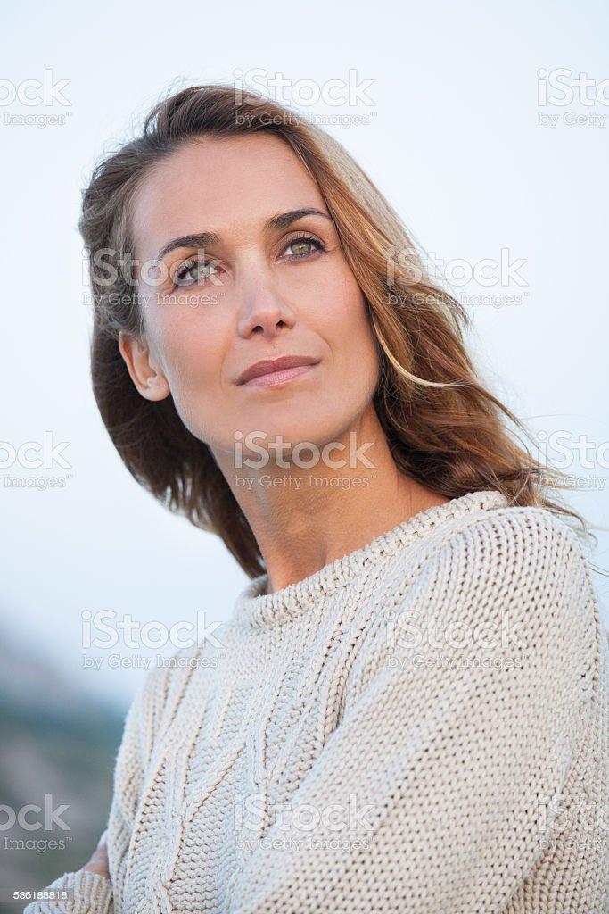 portrait de femme stock photo