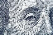 istock Portrait fragment of Benjamin Franklin 925486348