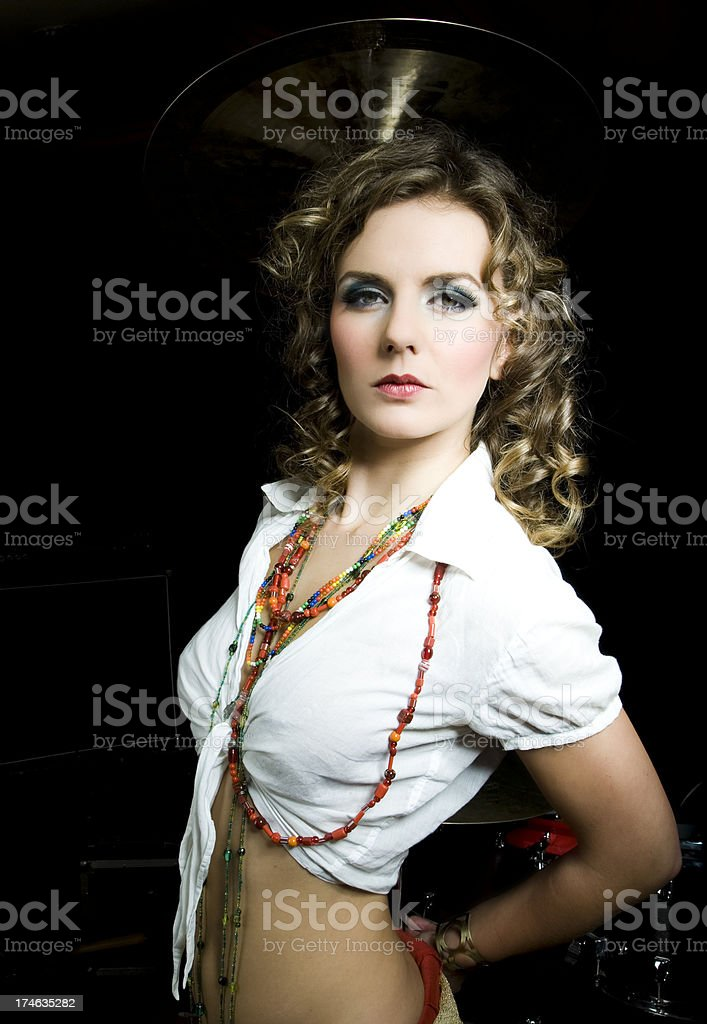 portrait from a beautiful girl stock photo