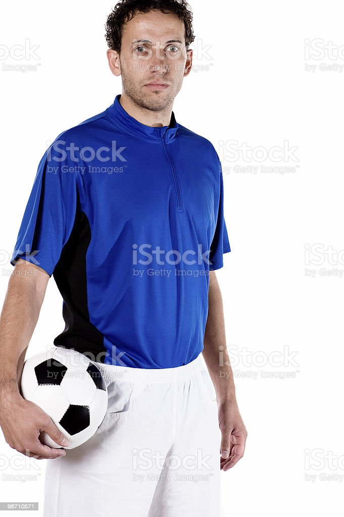 Portrait from a soccer player royalty-free stock photo