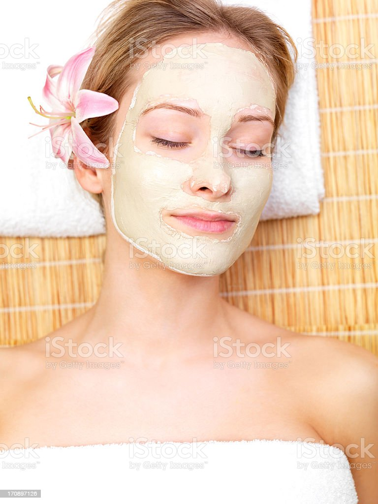 Portrait from the beauty salon royalty-free stock photo