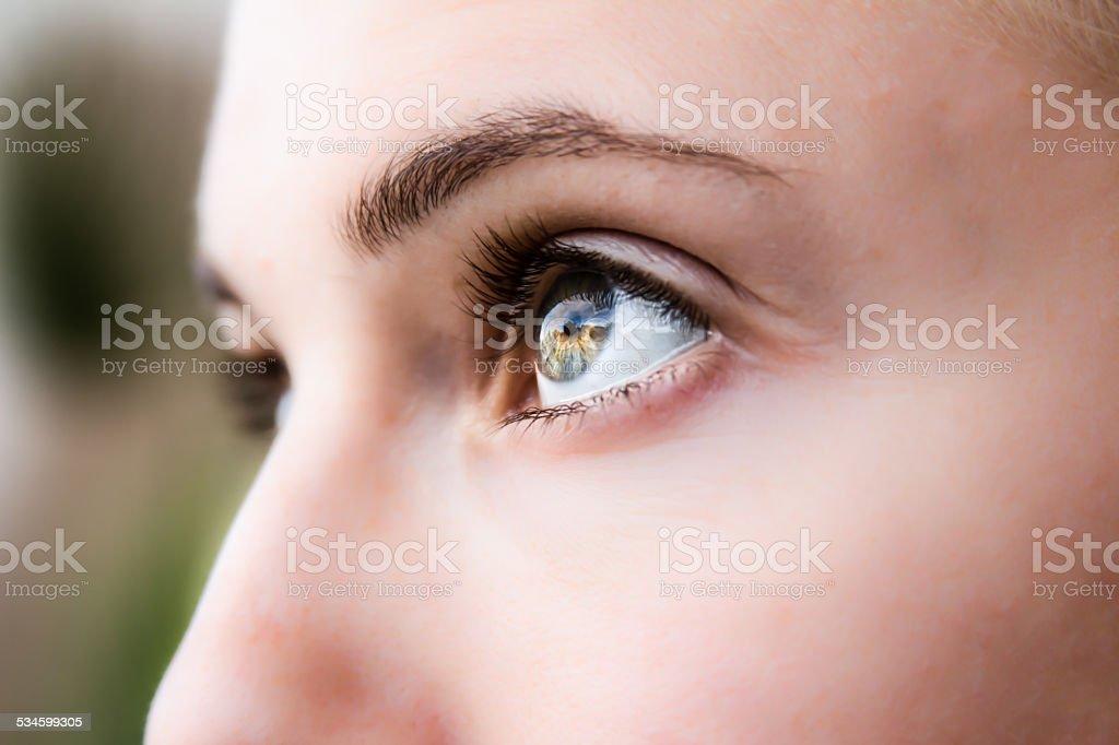 Portrait -- Girl's Eyes stock photo