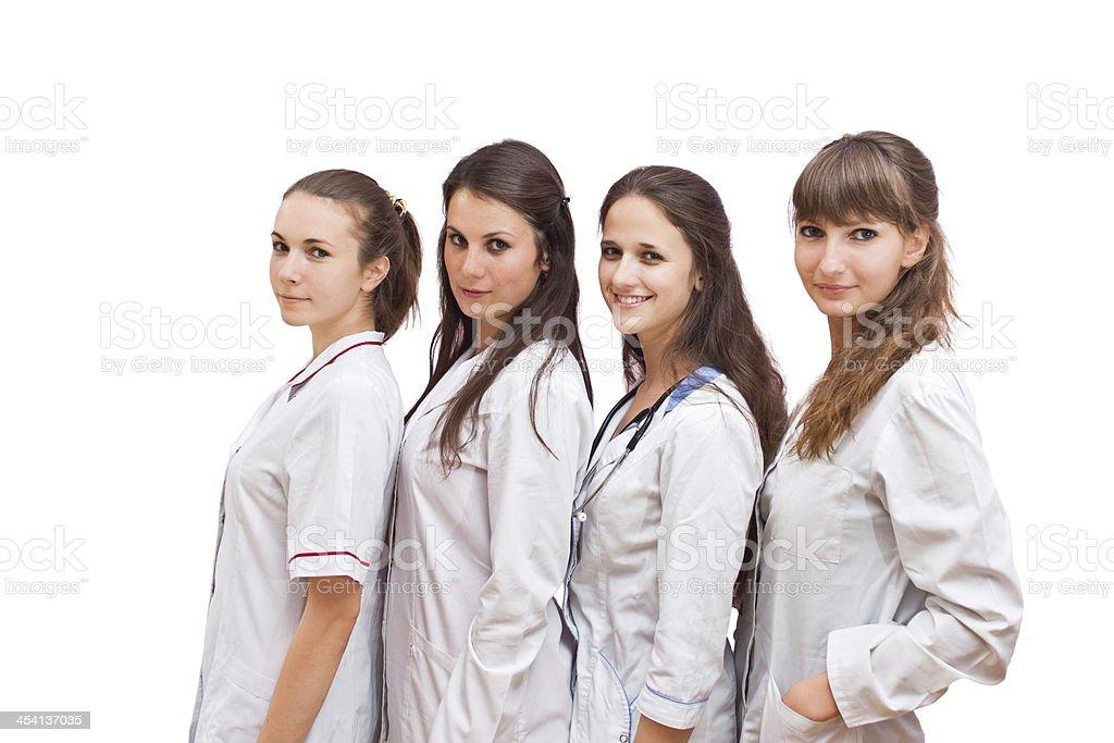Portrait group of nurses royalty-free stock photo