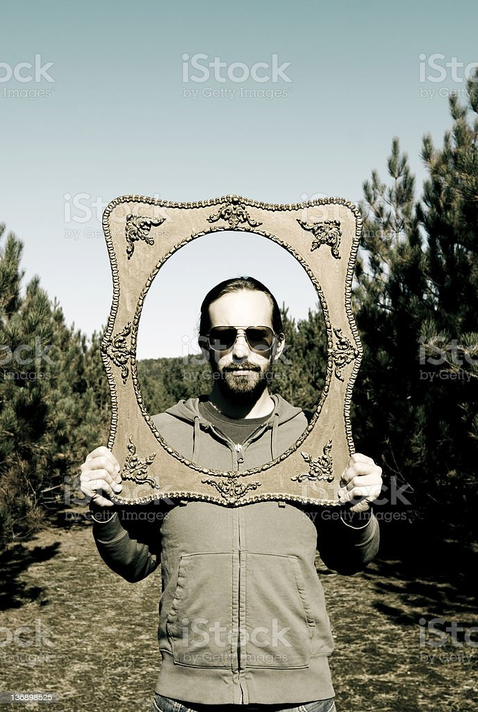 Portrait in nature. royalty-free stock photo