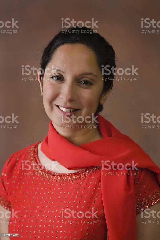 Portrait in Red Kurta Vt royalty-free stock photo