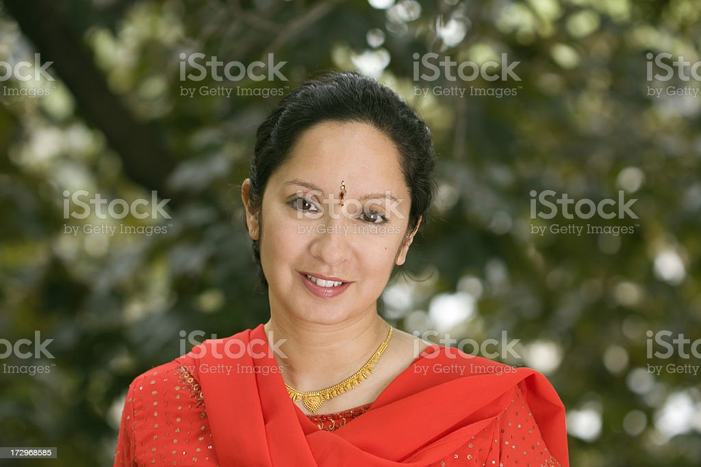 Portrait in Red royalty-free stock photo