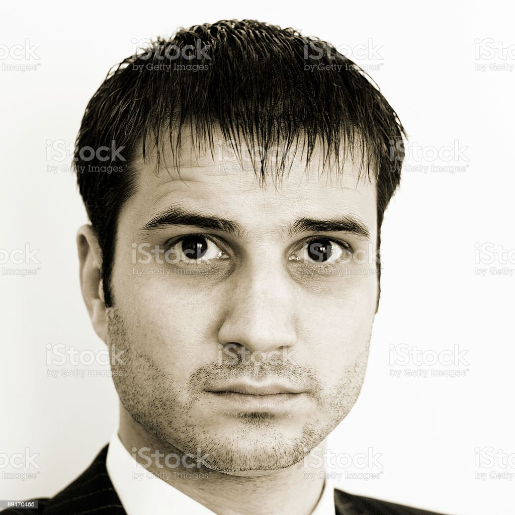 portrait in sepia royalty-free stock photo