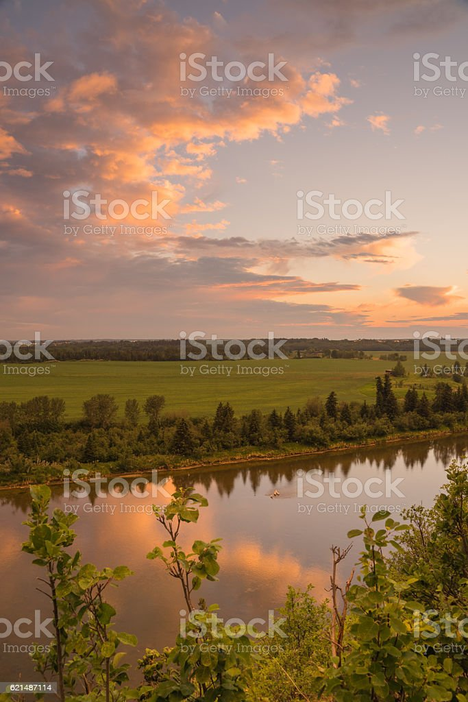 Portrait Landscape of the Red Deer River Lizenzfreies stock-foto