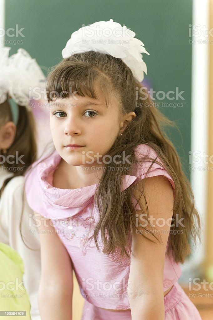 Porträt von kleinen Mädchen in der Schule – Foto