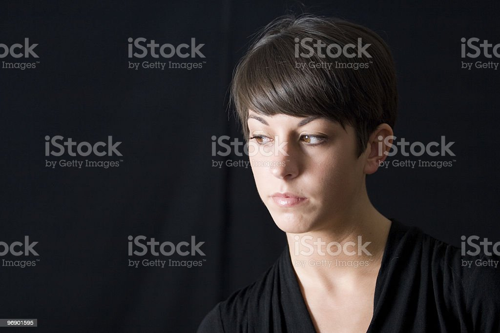 Portrait Looking Down royalty-free stock photo