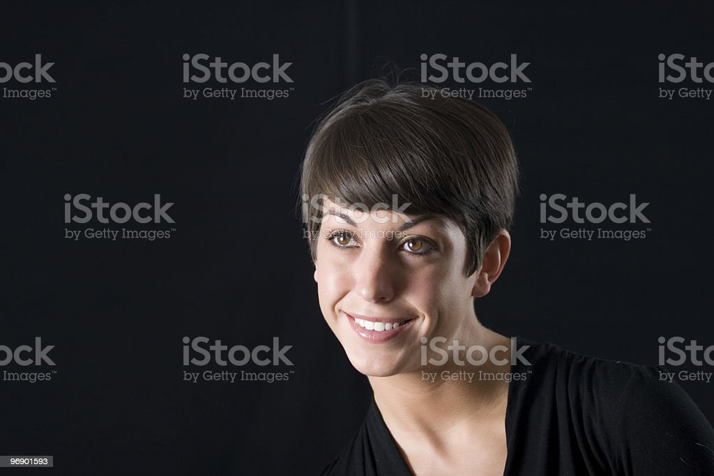 Portrait Looking Over royalty-free stock photo