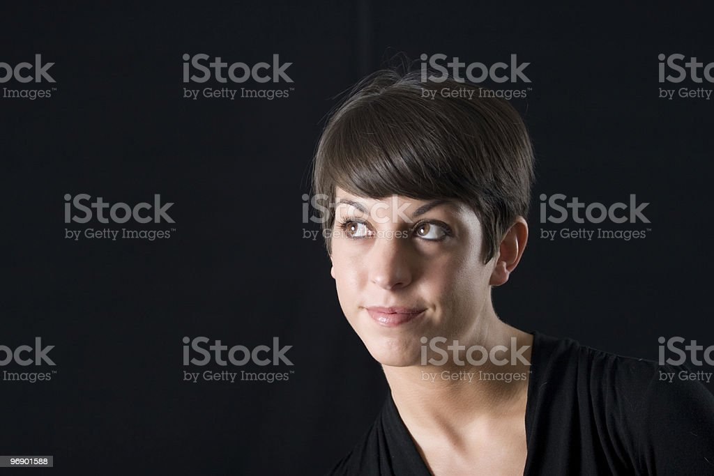Portrait Looking Up and Over royalty-free stock photo