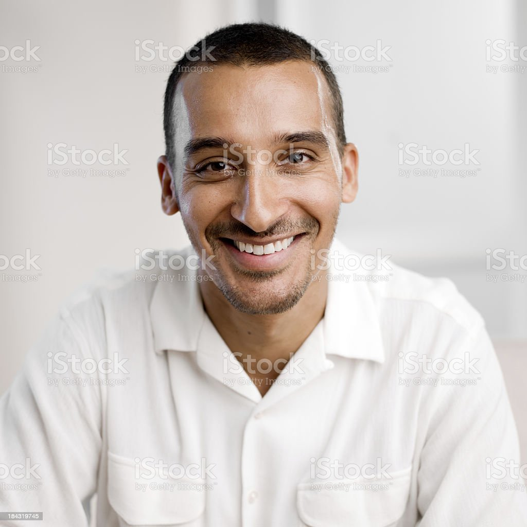 Portrait Middle Age Middle Eastern Man stock photo