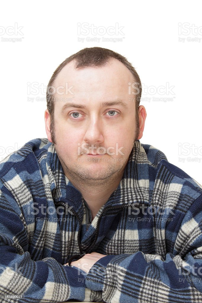 Portrait Midthirties Male In Blue Work Jacket Stock Photo Download Image Now Istock