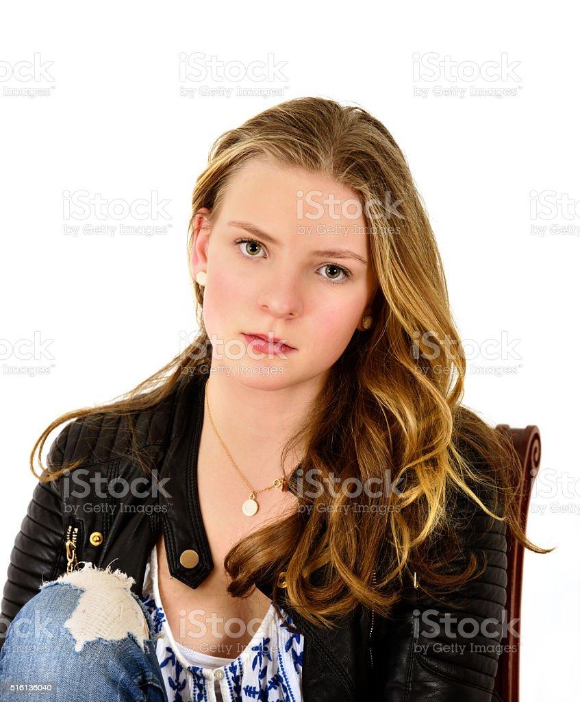 Porträt Von 14 Jahre Alten Teen Mädchen Stock Fotografie Und Mehr