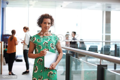 istock Portrait of 50s Mixed Race Female Business Leader. 1044227320