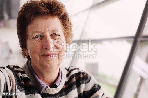 istock Portrait of 70 years old woman 508032898
