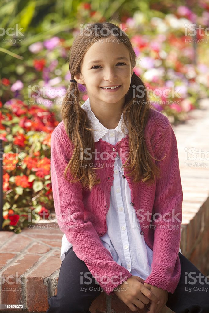 Portrait of 8 Year Old Girl royalty-free stock photo
