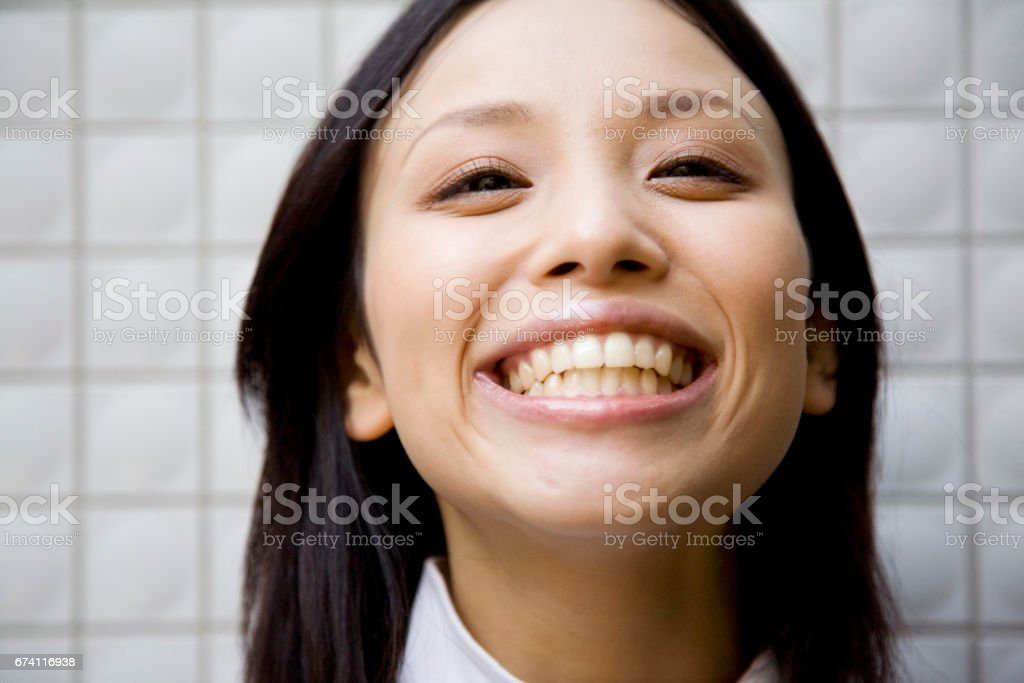 Portrait of a 20-something Japanese woman royalty-free stock photo