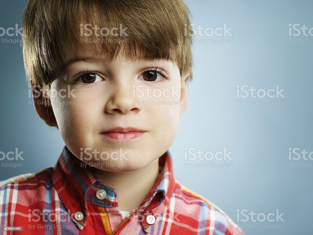Portrait of a 3 year old boy. royalty-free stock photo