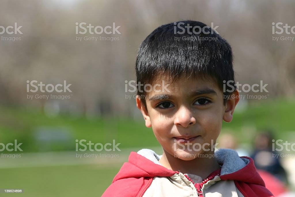 Portrait of a 3 year old stock photo